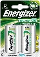 Energizer Rechargeable Battery D NiMHd Pack of 2