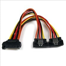 StarTech (6 inch) Latching SATA Power Y Splitter Cable Adapter