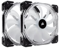 Corsair HD140 RGB LED High Performance 140mm PWM Fans - Twin Pack with Controller