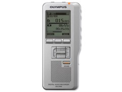 Olympus DS-2400 Digital Voice Recorder DSS Pro Format USB with SD Card 1GB Records 157Hrs (Silver)