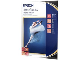Epson (A4) Ultra Glossy Photo Paper (15 Sheets) 300gsm (White)