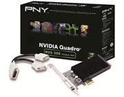 PNY NVIDIA NVS 300 Graphics Card 512MB DDR3 PCI-Express 2.0 x1 with DMS59 to Dual DVI (Single Link) Adaptor Cable (Retail)