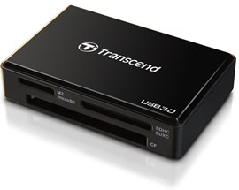 Transcend RDF8 USB 3.0 Multi-Card Reader (Black)