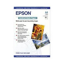Epson (A4) 192g/m2 Archival Matte Paper (White) 1 Pack of 50 Sheets