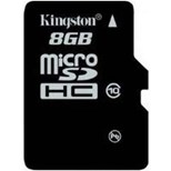 Kingston (8GB) microSDXC Class 10 UHS-I 45R Flash Card Single without Adapter