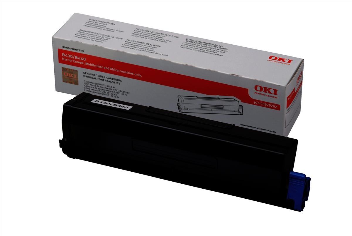 OKI 43979202 (Yield: 7,000 Pages) High Yield Black Toner Cartridge