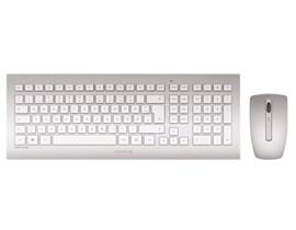 CHERRY DW 8000 Wireless Keyboard and Mouse Set (Silver/White)
