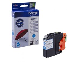 Brother LC225XLC (Yield: 1,200 Pages) Cyan Ink Cartridge