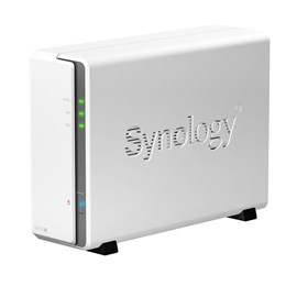 Synology DiskStation DS115j (0TB) 1-Bay All-in-One SATA Desktop NAS Server (White) *Open Box*