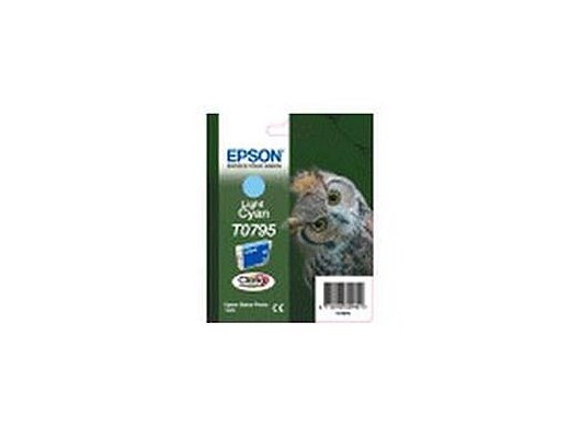 Epson T0795 Ink Cartridge (Light Cyan) for Stylus Photo 1400 Printer (Blister Pack with RF)