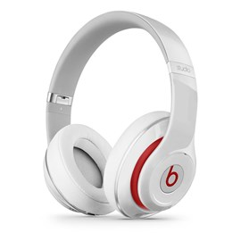 Apple Beats Studio Over-Ear Noise-Cancelling Headphones (White/Red)