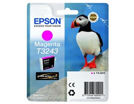 Epson Puffin T3243 (14ml) Ultrachrome Hi-Gloss2 Magenta Ink Cartridge for SureColor SC-P400 Printer
