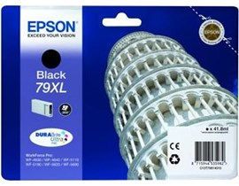 Epson Tower of Pisa 79XL (Yield: 2,600 Pages) High Yield DURABrite Black Ink Cartridge