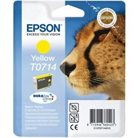 Epson T0714 (Yield 475 pages) Yellow 5.5ml Ink Cartridge (Blister Pack with RF)