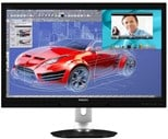 Philips (27 inch) LCD Monitor LED Backlight 1000:1 300cd/m2 2560x1440 12ms USB/DVI/HDMI/DisplayPort (Black) with Webcam