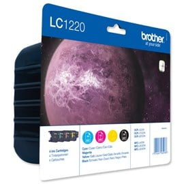 Brother LC1220 Value Pack (4 Cartridges: Cyan/Yellow/Magenta/Black)