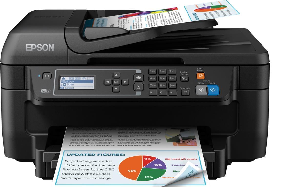 Epson Workforce Wf 2750dwf A4 Colour Inkjet All In One Wireless Hp Officejet 7110 Printer Print Web Wifi