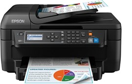 Epson WorkForce WF-2750DWF (A4) Colour Inkjet All-in-One Wireless Printer (Print/Copy/Scan/Fax) 5.6cm Mono LCD 33ppm (Mono) 20ppm (Colour) 3,000 (MDC)