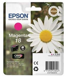 Epson Daisy 18 Series T1803 Magenta Ink Cartridge (Yield 180 Pages) RS Blister