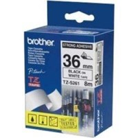 Brother P-touch TZe-S261 (36mm x 8m) Black On White Strong Adhesive Labelling Tape
