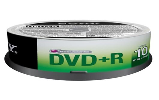 Sony DVD+R 4.7GB 120 min 16x Speed Spindle Case (10 Pack)