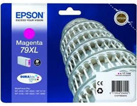 Epson Tower of Pisa 79XL (Yield: 2,000 Pages) High Yield DURABrite Magenta Ink Cartridge