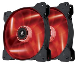 Corsair Air Series SP140 High Static Pressure Fan (140mm) with Red LED (Twin Pack)