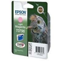 Epson T0796 Ink Cartridge (Light Magenta) for Stylus Photo 1400 Printer (Blister with RF)