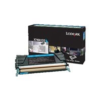 Lexmark Return Program (Yield: 7000 Pages) Cyan Toner Cartridge for X746/X748 Printers