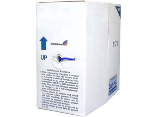 StarTech.com (305m) Cat6 UTP Network Cable (Blue) Box of Cable