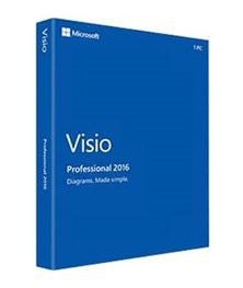 Microsoft Visio Professional 2016 for Windows (Medialess)
