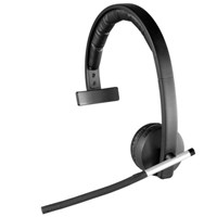 Logitech H820e Wireless Mono Headset (Black)