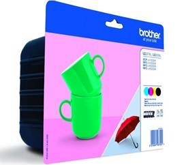 Brother LC-227XLVALBP (Yield: 1,200 Pages) Black/Cyan/Magenta/Yellow Ink Cartridge