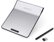 Wacom Bamboo Wireless Touch Pad (Silver/Black) with Digital Stylus