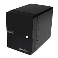 StarTech.com USB 3.0 / eSATA 4-Bay (3.5 inch) SATA III Hard Drive Enclosure with built-in HDD Fan and UASP - SATA 6Gbps