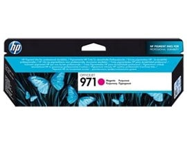 HP 971 (Yield: 2,500 Pages) Magenta Ink Cartridge