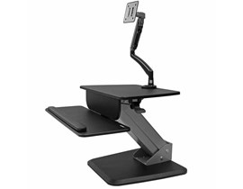 StarTech.com Sit-to-stand Workstation with Articulating Monitor Arm