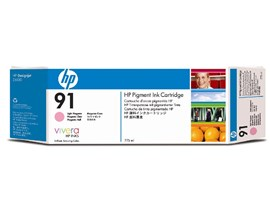 HP 91 Ink Cartridge (775 ml) with Vivera Ink (Light Magenta)