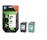 HP 350 and 351 Black and Tri-Colour Inkjet Cartridge Combo Pack (200 Pages)