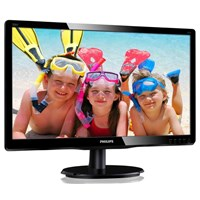 Philips 200V4QSBR 20 inch LED Monitor - Full HD 1080p, 20ms, DVI