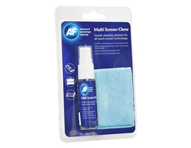 AF Multi-Screen Clene Travel Kit (25ml Pump Spray and Microfiber Cloth)