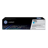 HP 126A (Yield: 1,000 Pages) Cyan Toner Cartridge