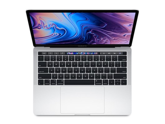 Apple MacBook Pro (13.3 inch) Notebook Core i5 (2.3GHz) 8GB 512GB SSD WLAN BT Webcam Touch Bar Mac OS Mojave (Intel Iris Plus Graphics 655) Silver