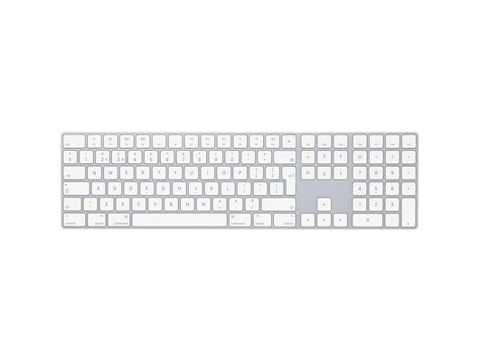Apple Magic Wireless Keyboard with Numeric Keypad (Silver) - British English