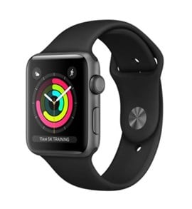 Apple Watch Series 3 (42mm) Space Grey Aluminium Watch Case 8GB GPS with Black Sport Band