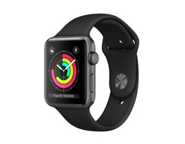 Apple Watch Series 3 (42mm) Smartwatch with Space Grey Aluminium Case (8GB) GPS and Black Sport Band
