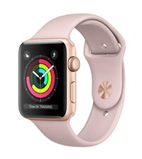 Apple Watch Series 3 (38mm) Gold Aluminium Watch Case 8GB GPS with Pink Sand Sport Band
