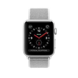 Apple Watch Series 3 (42mm) Silver Aluminium Watch Case 16GB GPS + Cellular with Seashell Sport Loop