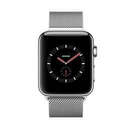 Apple Watch Series 3 (38mm) Stainless Steel Watch Case 16GB GPS + Cellular with Milanese Loop