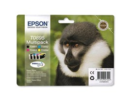 Epson T0895 4 Colour Multipack Ink Cartridges Black, Cyan, Magenta, Yellow
